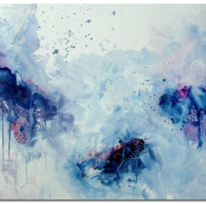 Frozen, 2016| 36x24 in | Acrylic on Canvas | Abstract art by Asma Kazi