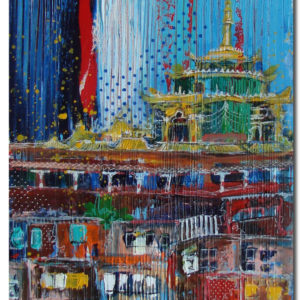 Larung Gar, Cityscapes, 2017. Art by Asma Kazi