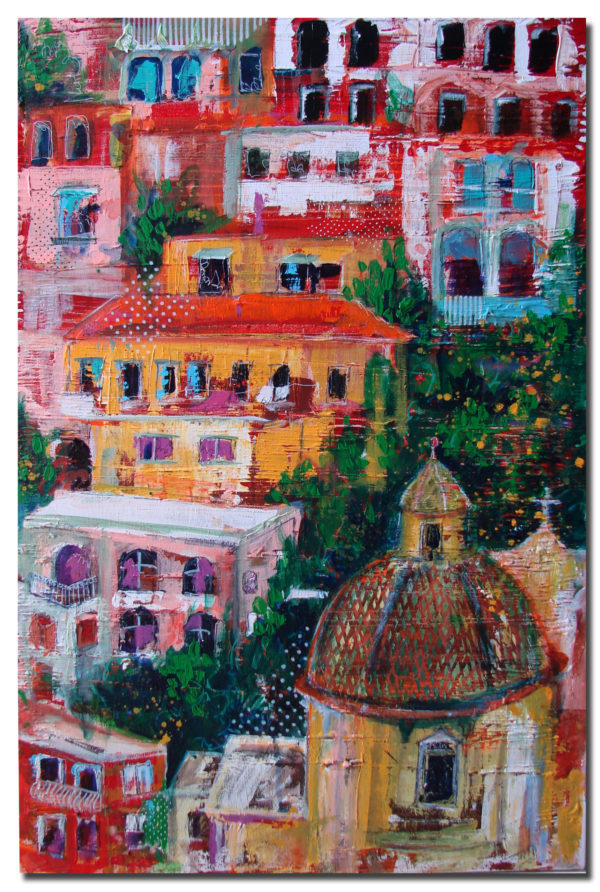 Positano , Cityscapes, 2017. Art by Asma Kazi