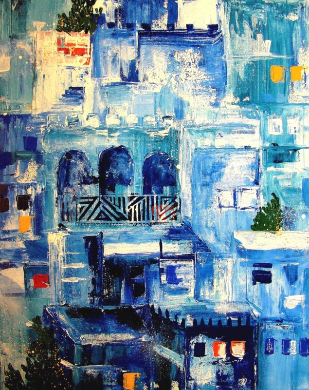 Blue City, Cityscapes, 2013. Art by Asma Kazi