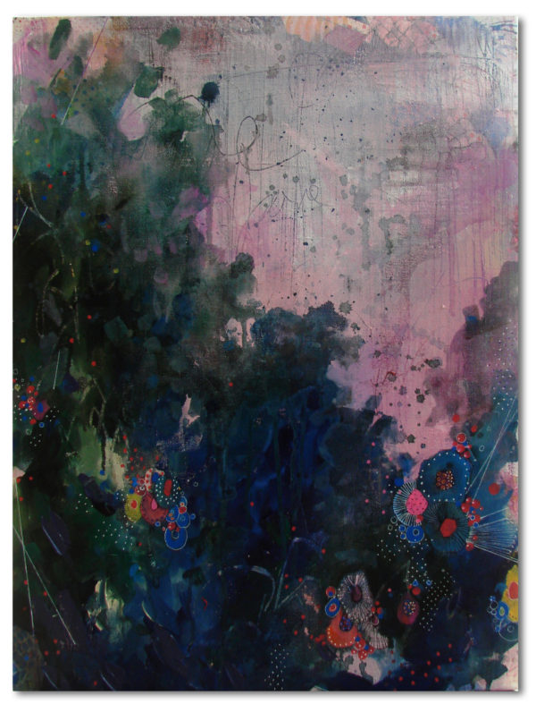 Candytrail, Alien landscapes, 2017 | 18×24 in | Mixed Media on Canvas | Abstract Art by Asma Kazi