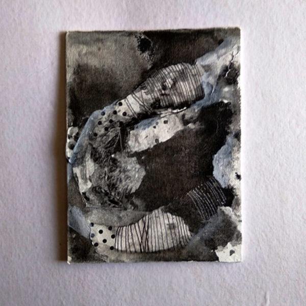 Spots, Alien landscapes. Day 10 | 6x8in | Ink on Canvas Board