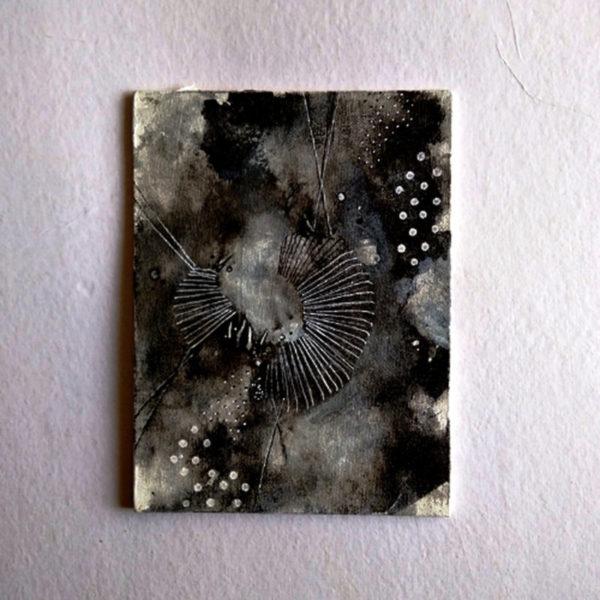 Swing, Alien landscapes. Day 11 | 6x8in | Ink on Canvas Board