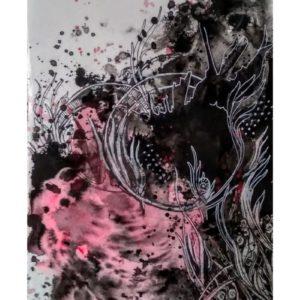 Swirl , Alien landscapes. Day 18 | 6x8in| Ink on paper