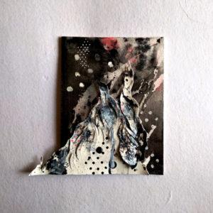 Soar , Alien landscapes. Day 23 | 6x8in| Ink + Inked paper on canvas board