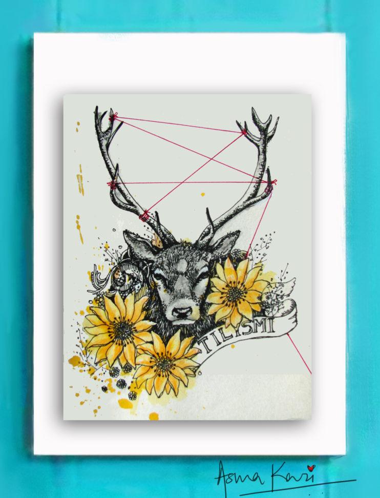 03 The Enchanted, 2016 Pen & Ink drawing by Asma Kazi