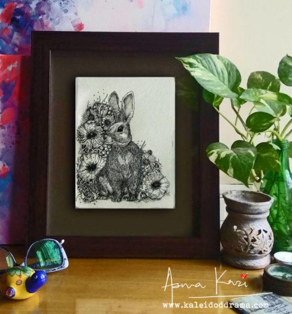 06 insitu_Wabbitus Hoptimus Prime, 2016 Pen & Ink drawing by Asma Kazi