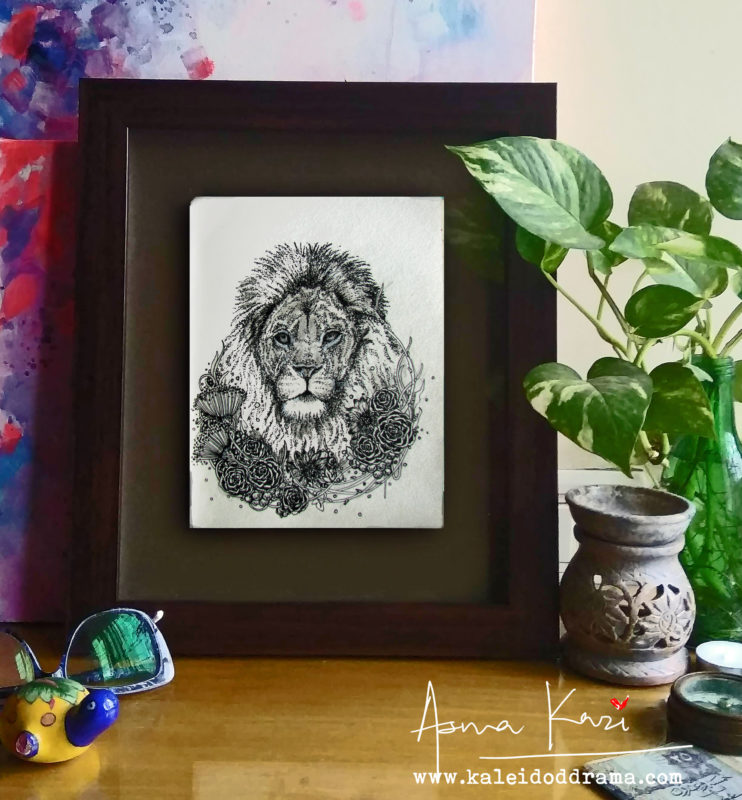 08 insitu_LEO, 2016 Pen & Ink drawing by Asma Kazi