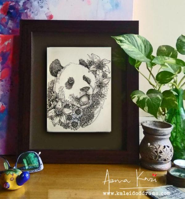 12 Pinyin insitu, 2016 Pen & Ink drawing by Asma Kazi