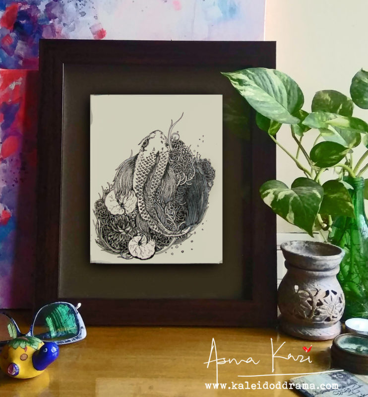13 Insitu_Nishigoi, 2016 Pen & Ink drawing by Asma Kazi+