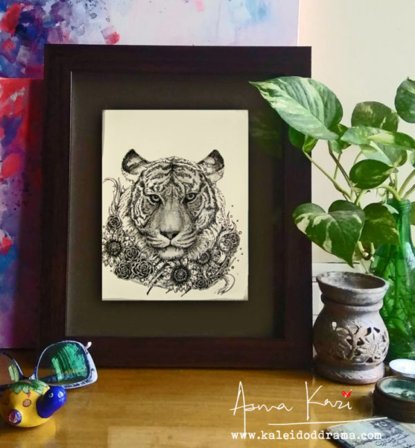17 insitu_Richard Parker, 2016 Pen & Ink drawing by Asma Kazi