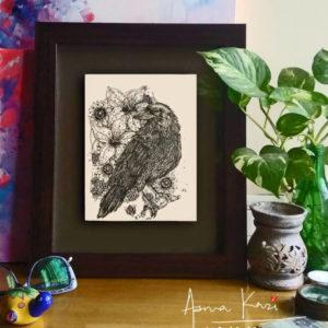 20 insitu_Nevermore, 2016 Pen & Ink drawing by Asma Kazi+