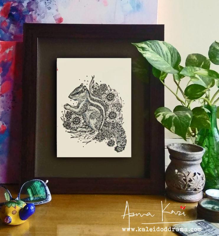 24 insiu_FPalmarumpum, 2016 Pen & Ink drawing by Asma Kazi