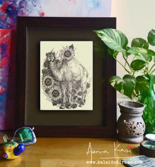 27 insitu_Don Camelini, 2016 Pen & Ink drawing by Asma Kazi