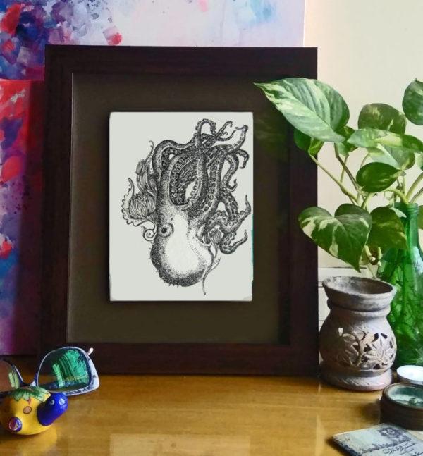 32 insitu_Octopus, 2016 Pen & Ink drawinng by Asma Kazi_