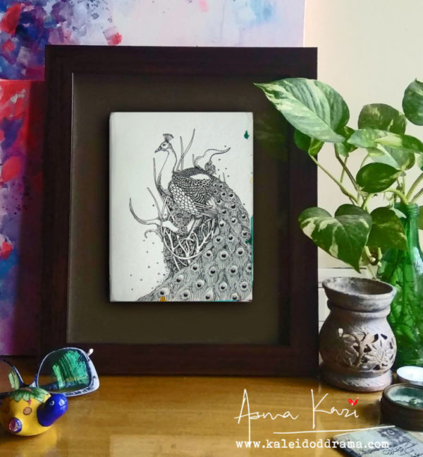 33 Insitu_Strutster, 2016 Pen & Ink drawing by Asma Kazi_