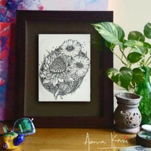 36 insitu_laas flores, 2016 Pen & Ink drawing by Asma Kazi