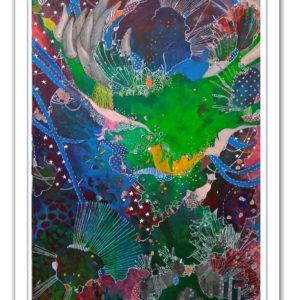 Cornucopia 2020   20x30 in   Mixed media on canvas   Alien Landscapes by Asma Kazi